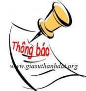 Thông báo giả mạo trung tâm gia sư Thành Đạt